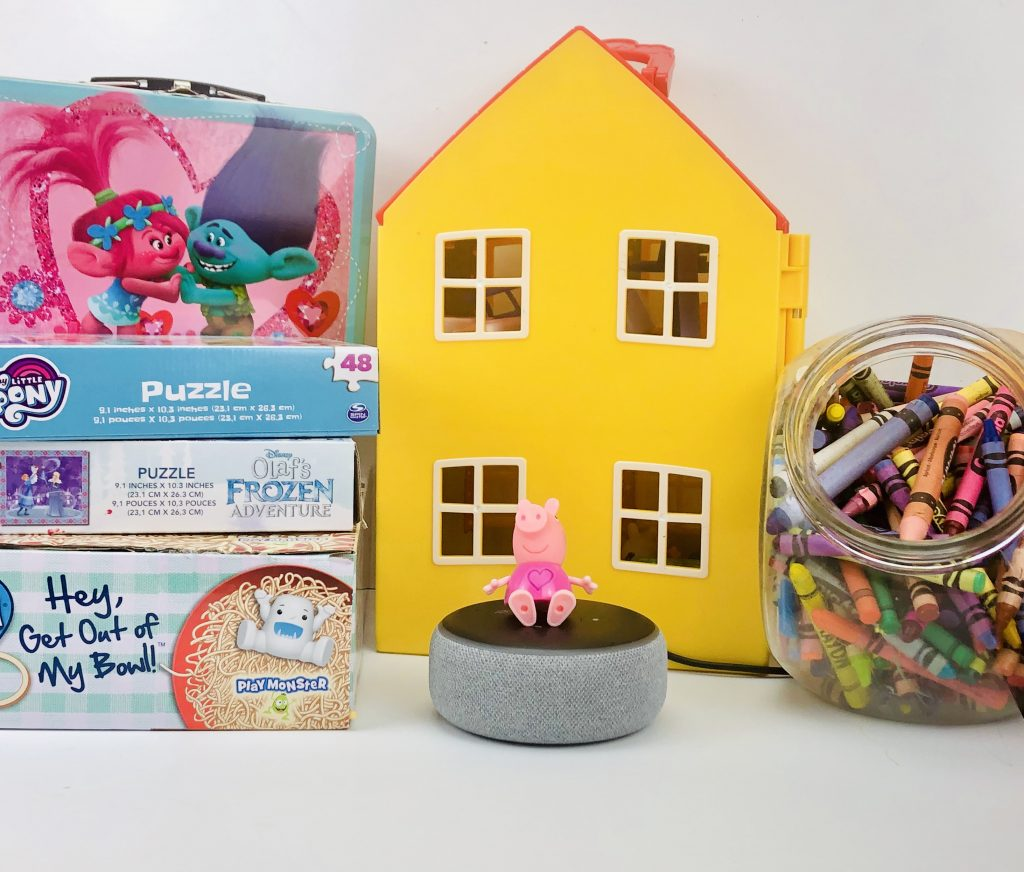 Amazon Echo w/ Alexa in the playroom
